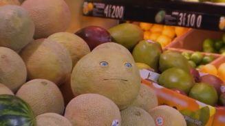 Schrecksekunde im Supermarkt: Das Obst kann sprechen