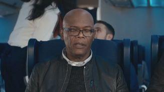 Witzig: Samuel L. Jackson isst 'Steaks on a plane'