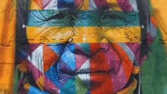 Riesen-Graffiti für Olympia: Farbenfroher Weltrekord