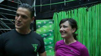 Gesund und glücklich: Miriam Pielhau fliegt mit Tarzan